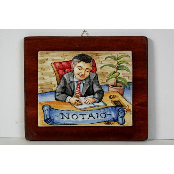 Notaio Quadro Ceramica Idea Regalo Originale Compleanno